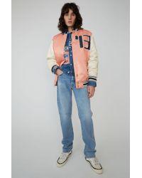 Acne Studios - Varsity Jacket pale Pink - Lyst