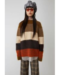 Acne Studios - Classic Striped Knit orange/multi - Lyst