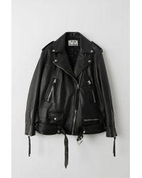 Acne Studios Myrtle Leather Biker Jacket