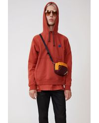 Acne Studios - Hooded Sweatshirt dusty Red - Lyst