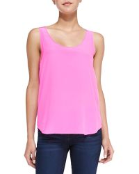French connection Sunkissed Silk Tank Top Pink 2 - Lyst