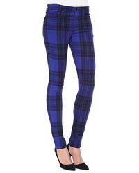 Joe's Jeans Mid-rise Plaid Skinny Jeans - Lyst