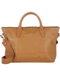 Barneys New York Beige Monica Satchel - Lyst