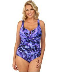 Miraclesuit Plus Size Fandance Escape Swimsuit - Lyst