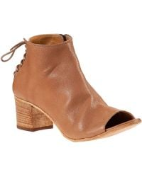 275 Central Laced Back Bootie Cuoio Leather - Lyst