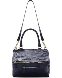 Givenchy Midnight Blue Old Pepe Leather Medium Pandora Bag - Lyst