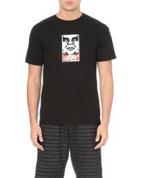 Obey Slick Takeover Cotton Logo T-shirt - Lyst