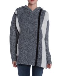 T By Alexander Wang Tweed Hooded Sweater - Lyst