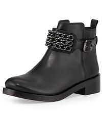 Tory Burch Bloomfield Chain Leather Bootie Black 375b75b - Lyst