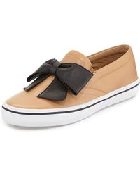 Kate Spade Delise Too Bow Slipon Sneaker Natural - Lyst