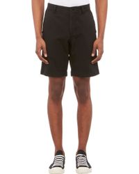 Barneys New York Twill Chino Shorts - Lyst