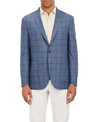 Boglioli - Windowpane-checked Three-button Sportcoat - Lyst