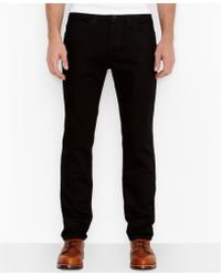 Levi's 511 Line 8 Black 3D Slim Straight Fit Jeans - Lyst
