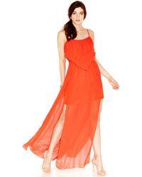 BCBGeneration Ruffled Maxi Dress - Lyst