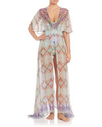Camilla | Split-front Long Silk Dress | Lyst