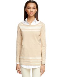 Brooks Brothers Silk And Cotton Sweater - Lyst