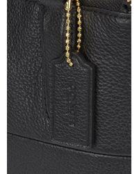 COACH - Mini Borough Black Grained Leather Tote - Lyst