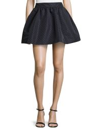 RED Valentino Flocked Dotted Faille Bell Skirt - Lyst