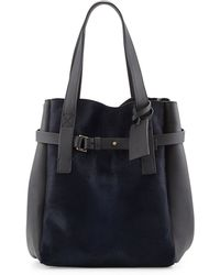Marni Calf Hair Leather Tote Bag - Lyst
