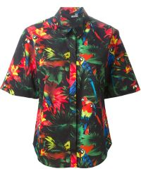 Love Moschino Tropical Print Shirt - Lyst