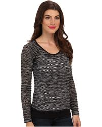 Kut From The Kloth Liane Crew Neck 34 Sleeve Top - Lyst