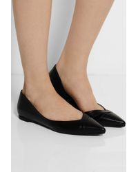 McQ by Alexander McQueen Ada Punk Leather Pointedtoe Flats - Lyst