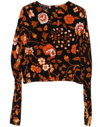 By Malene Birger Zenobia Floral Top - Lyst
