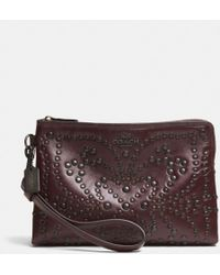 Coach Mini Studs Large Wristlet in Leather - Lyst