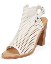 Rag & Bone Perforated Leather Wyatt Sandals - Lyst