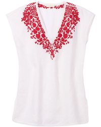 Tory Burch White Issy Tunic - Lyst