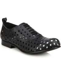 Comme des Garçons Perforated Leather Oxfords black - Lyst