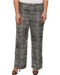 MICHAEL Michael Kors Plus Size Printed Wide Leg Pants - Lyst