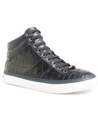 Jimmy Choo Belgravia High-Top Sneakers - Lyst