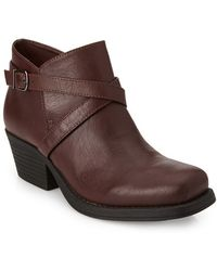 Forever 21 Buckled Moto Booties - Lyst