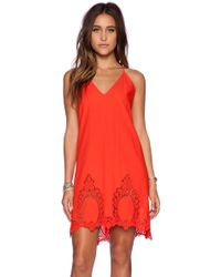 Free People Easy Livin Slip red - Lyst