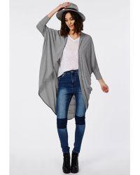 Missguided Monochrome Stripe Jersey Kimono - Lyst