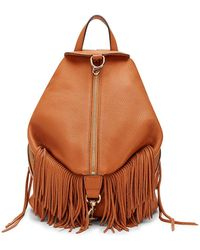 Rebecca Minkoff Julian Backpack With Fringe - Lyst