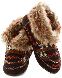 ModCloth Fun By The Fire Slippers - Lyst