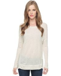 Splendid Sparkle Jersey Long Sleeve Top - Lyst