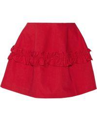 J Brand  Simone Rocha Ruffled Denim Mini Skirt - Lyst