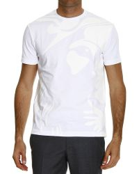 Versus  T-Shirt Half Sleeve Crew-Neck With Scritta white - Lyst