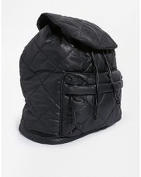 Asos Quilted Nylon Backpack - Lyst