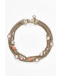 Givenchy Women'S Stone Three-Strand Bracelet - Gold/ Coral (Nordstrom Exclusive) - Lyst