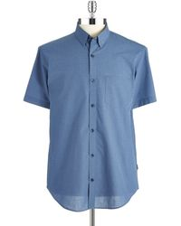 Calvin Klein End On End Sport Shirt - Lyst