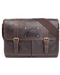 Jack Mason Brand - 'gridiron - Southern Methodist University Mustangs' Leather Messenger Bag - Lyst