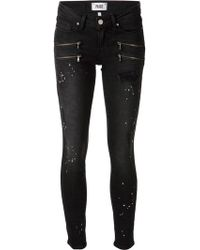 Paige Distressed Skinny Jeans - Lyst