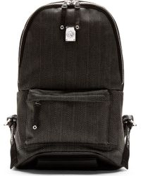 Diesel Grey Herrinbgone Clubber Backpack - Lyst