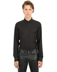Saint Laurent Stripe Jacquard Cotton Poplin Shirt - Lyst