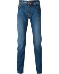 Jacob Cohen Blue Skinny Jeans - Lyst