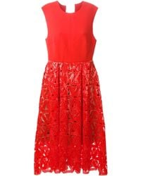 self-portrait Sequins Embroidered Dress - Lyst